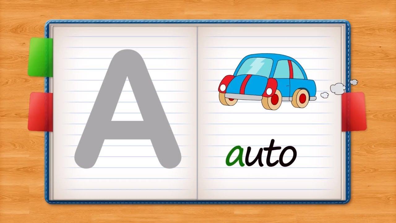 Nauka alfabetu dla dzieci - abecadło abc